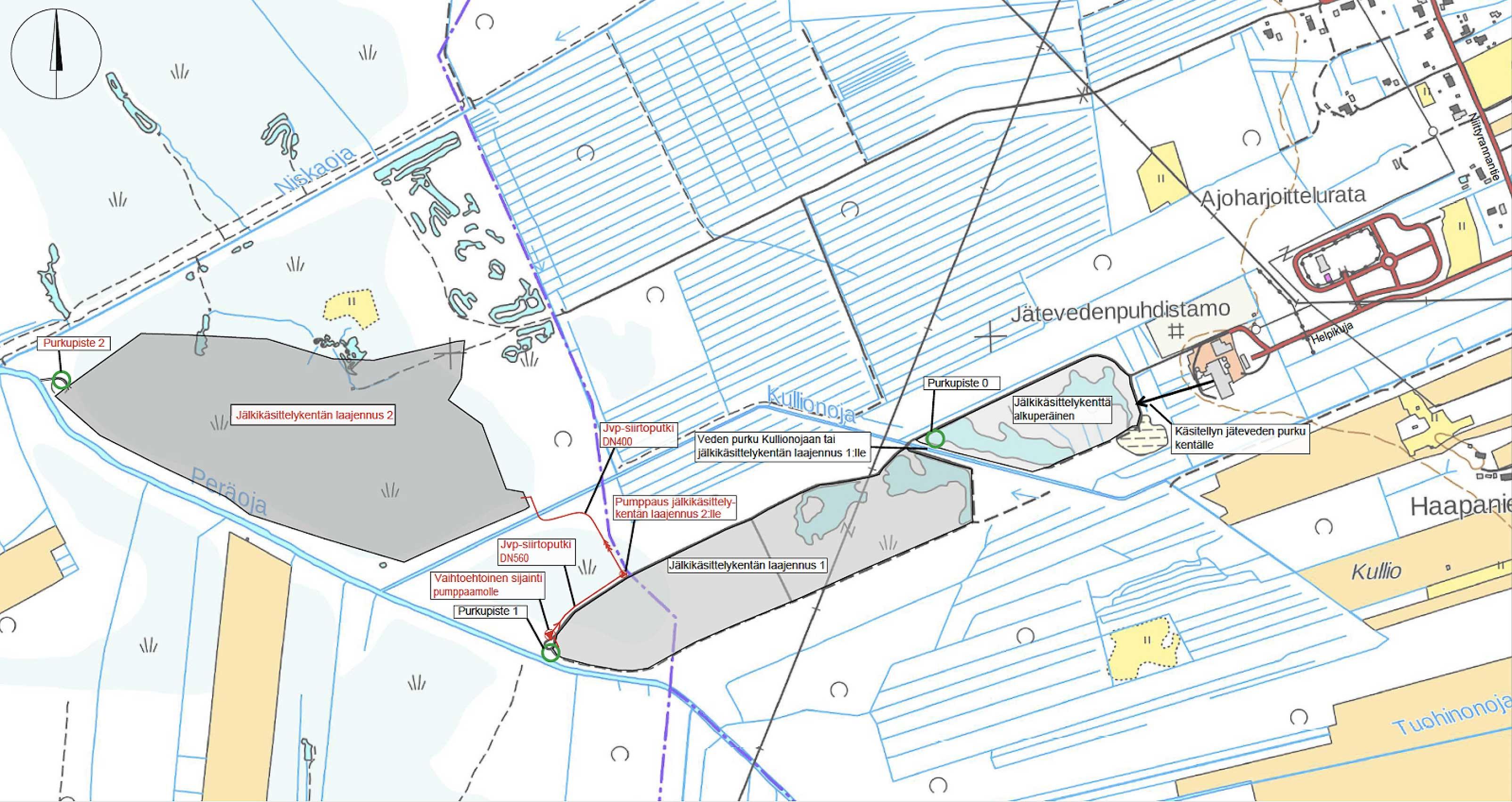 Lakeuden Keskuspuhdistamo Kosteikon Laajennus Kartta Kempeleen
